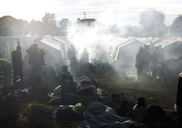 An informal refugee camp (File)