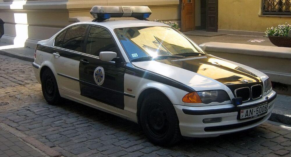 Latvian security  service   police  car