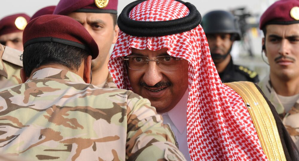 Saudi Crown Prince and Interior Minister Prince Mohammed bin Nayef bin Abdulaziz arrives to attend a graduation ceremony of members of Saudi Special Forces in the capital Riyadh, on May 19, 2015.