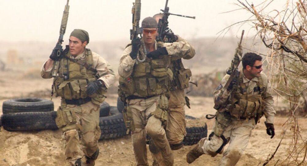 Navy SEALs during desert training