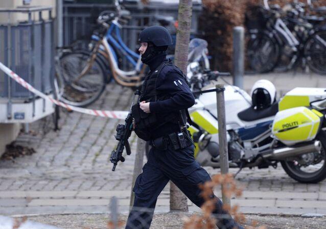 An armed security officer.Copenhagen (File)