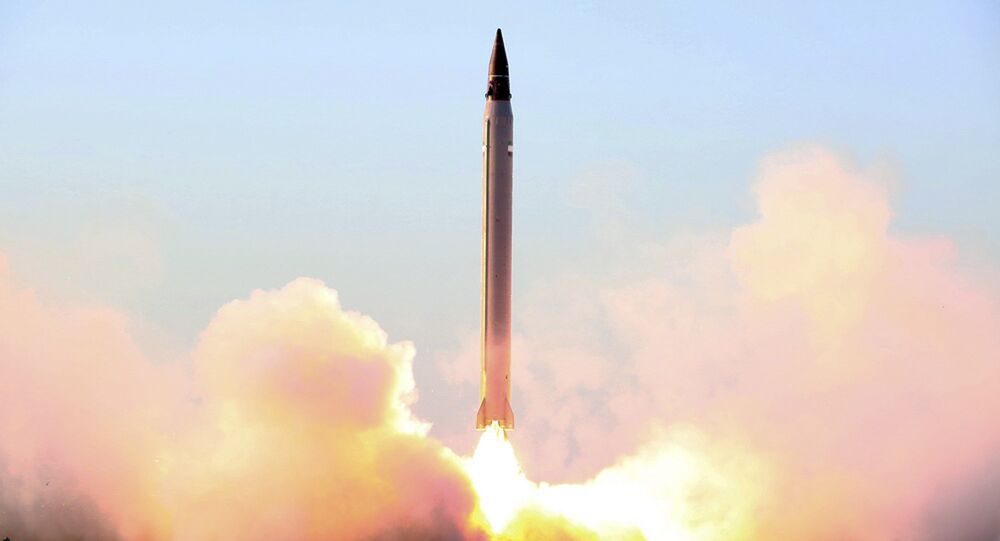 Launch of an Iranian Emad long-range ballistic surface-to-surface missile