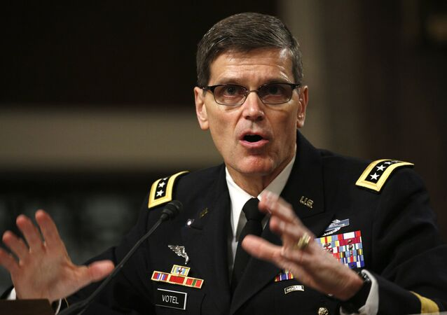 US Army General Joseph Votel testifies during a Senate Armed Services Committee hearing on Votel's nomination to be commander of the U.S. Central Command on Capitol Hill in Washington March 9, 2016.