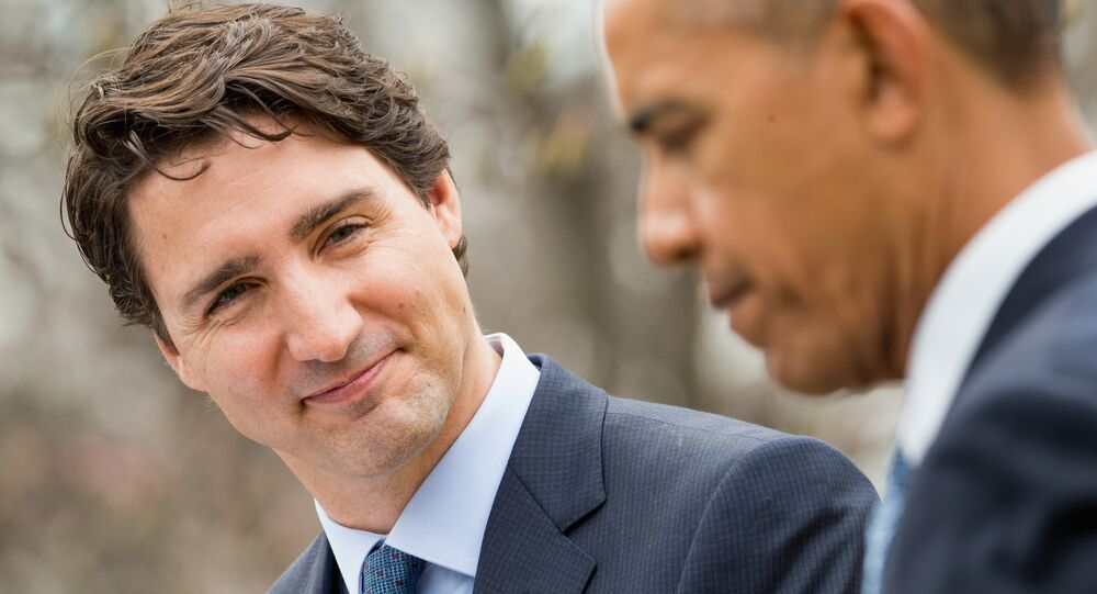 Trudeau visits with Obama