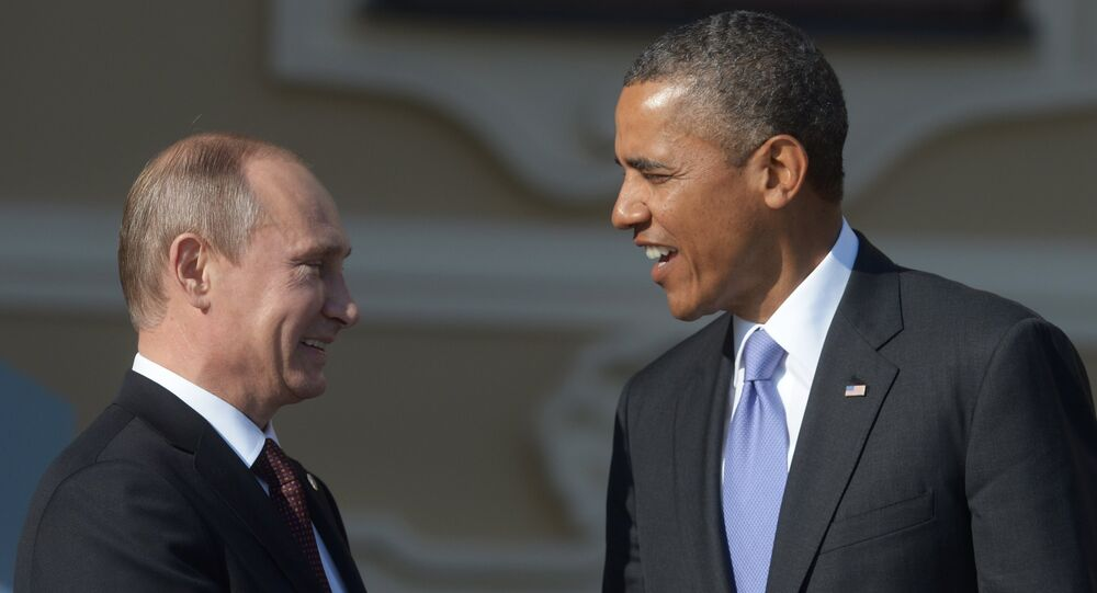 Russian President Vladimir Putin (left) and US President Barack Obama (file)