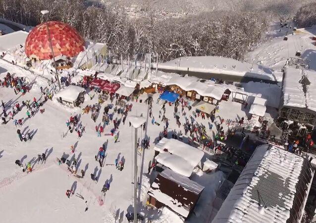 Drone Footage: Sochi Winter Wonderland