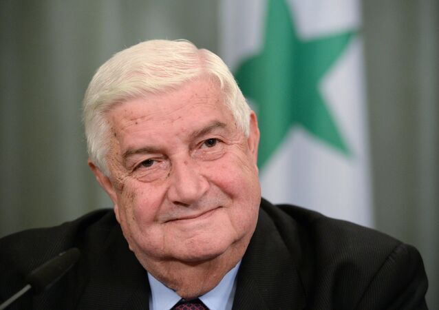 Syrian Foreign Minister Walid al-Muallem