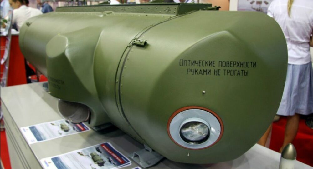 Export version of the President-S airborne defense complex on display.