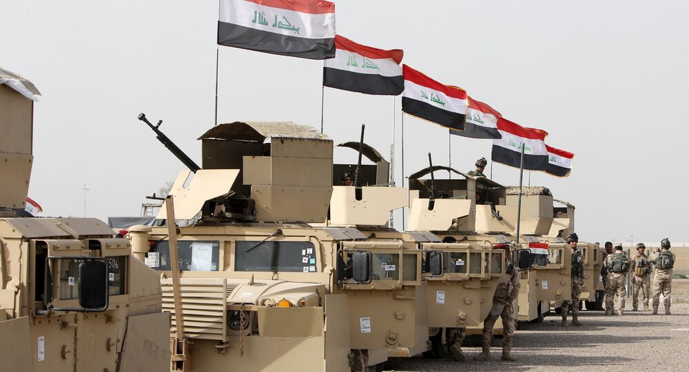 Iraqi security forces ride