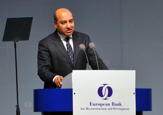 Briton President of the European Bank for Reconstruction and Development (EBRD), Sir Suma Chakrabarti (File)