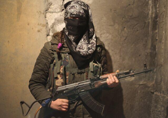Female Kurdish fighter (File)