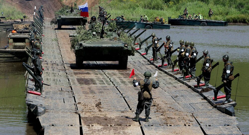 Tank units exercise of 5th Combined Arms Army of Eastern Military District