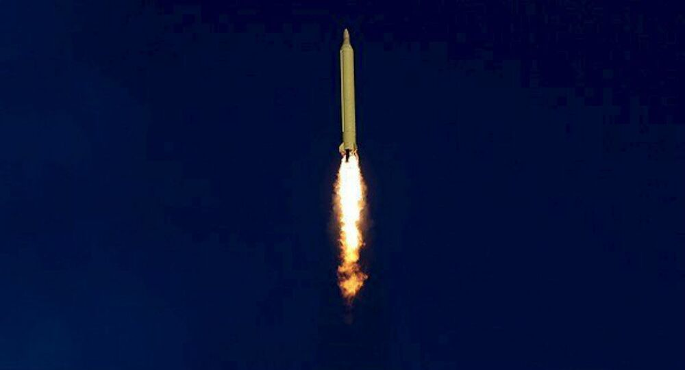 A ballistic missile is launched and tested in an undisclosed location, Iran, in this handout photo released by Farsnews on March 9, 2016