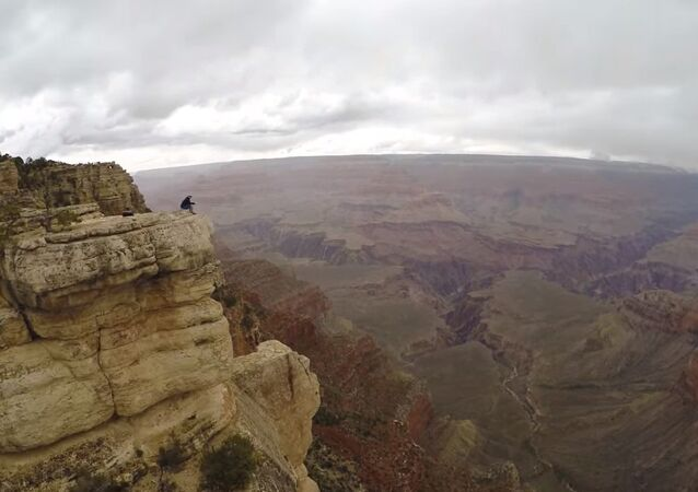 Grand Canyon Drone Selfie