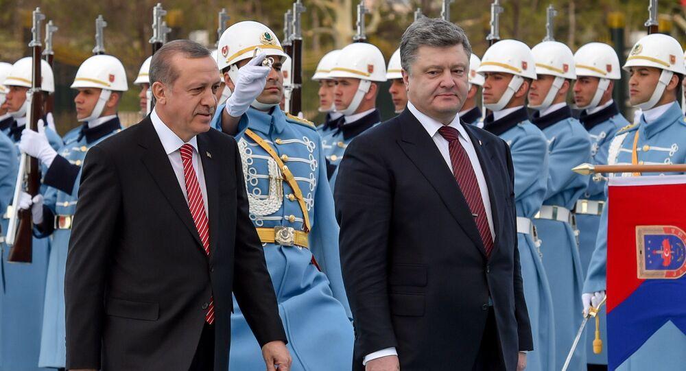 Ukrainian President Petro Poroshenko visits Turkey