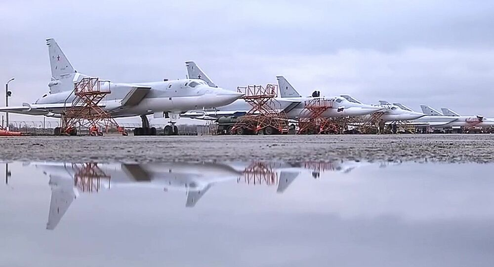 Tupolev Tu-22M3 strategic bombers hit terrorists in Syria
