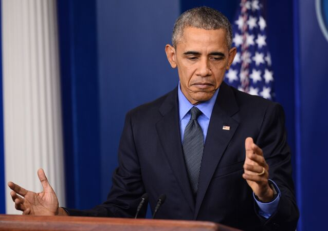 US President Barack Obama speaks during a press conference in the briefing room of the White House in Washington, DC (File)
