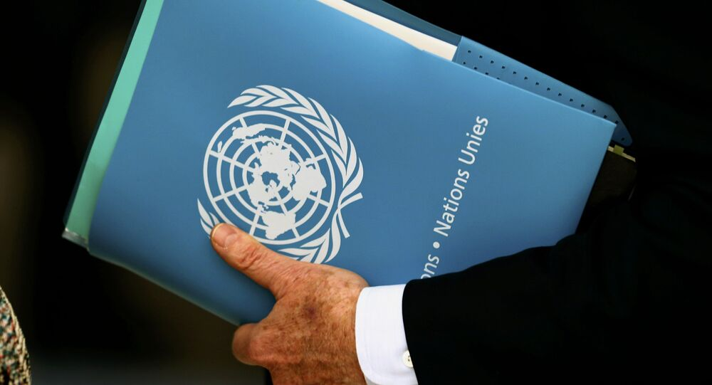 United Nations Special Envoy for Syria Staffan de Mistura holds a folder aside of the 31st Session of the Human Rights Council at the U.N. European headquarters in Geneva, Switzerland, February 29, 2016
