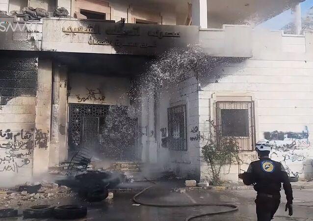 Сожженнный штаб ан-Нусры