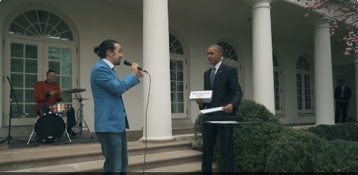 Obama Helps Hamilton Creator With Freestyle Rap