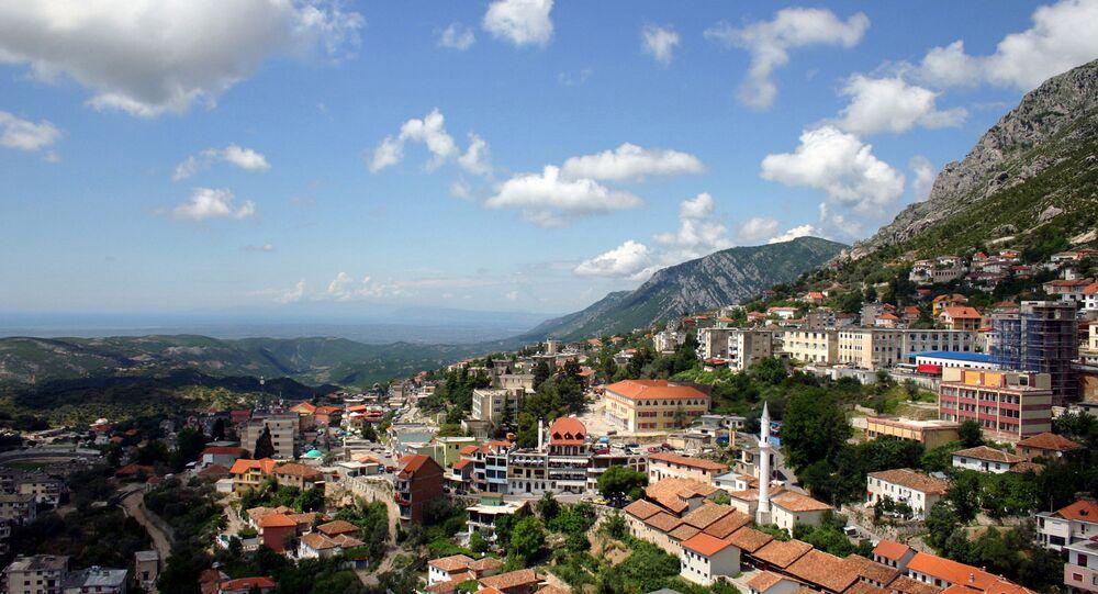 The Albanian town of Kruja