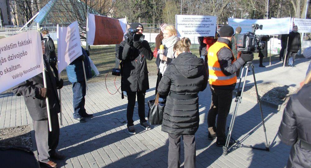 Latvian Nazi Veterans March in Riga