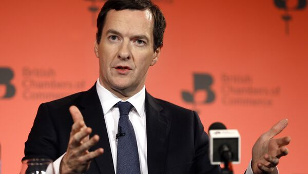Britain's Chancellor George Osborne speaks during the British Chambers of Commerce annual conference in London (File) - Sputnik International