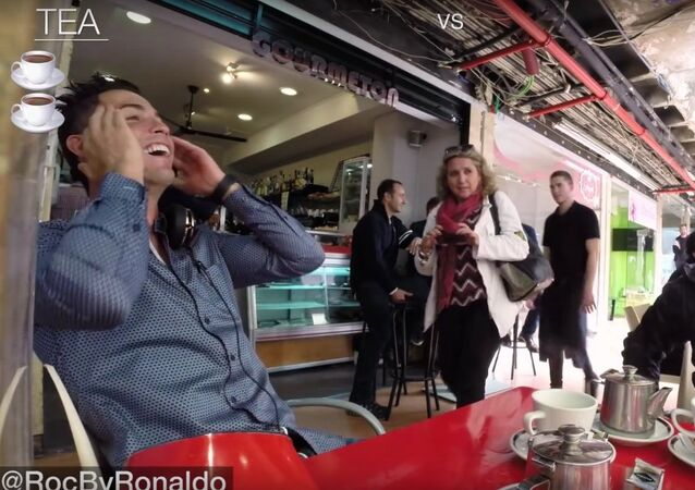 Cristiano Ronaldo was just going out for tea and this happened