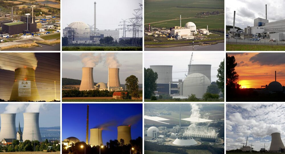 File combination picture of German nuclear power plants.