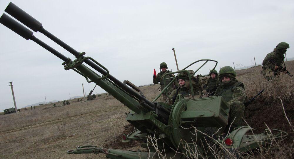 An anti-aircraft gun ZU-23