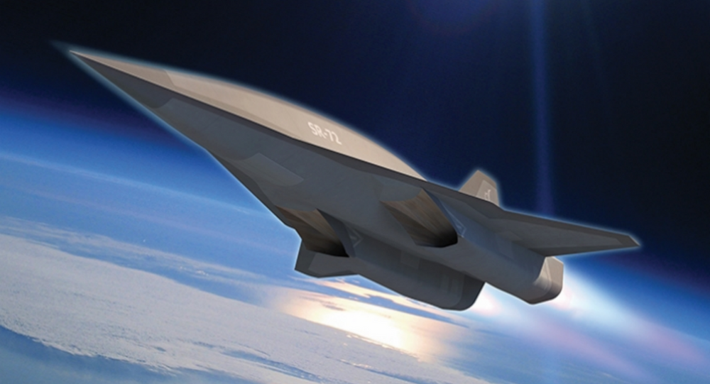 Concept drawing of a hypersonic aircraft