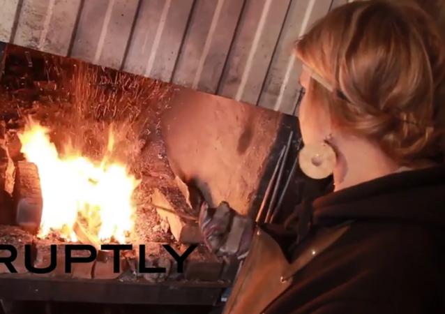 Russia: Meet Anna Beletskaya, Siberia's only female blacksmith