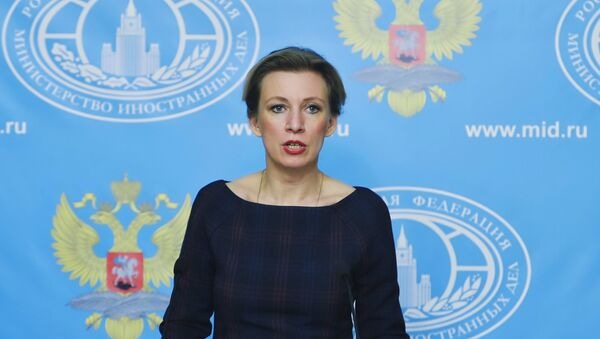 Russian Foreign Ministry Spokesperson Maria Zakharova during a press briefing on the current foreign policy issues - Sputnik International