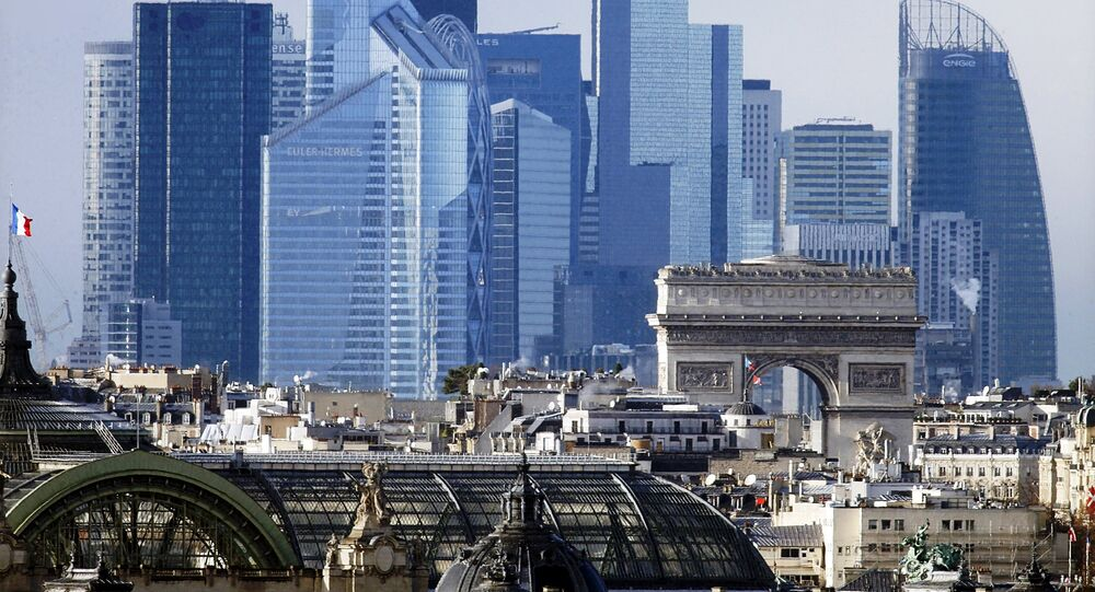 The skyline of the La Defense business district near Paris, France, is seen in this general view file picture taken on January 14, 2016.