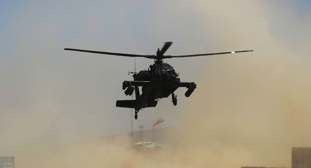 US Army AH-64 Apache attack helicopter. File photo