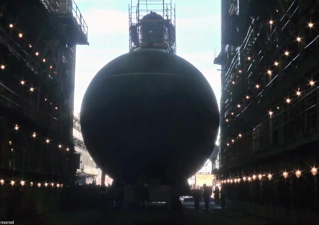 New Black Sea Fleet Submarine Launched in Saint Petersburg