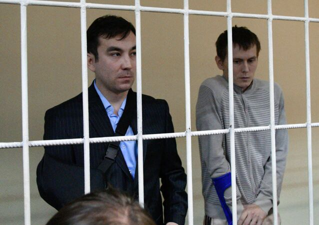 A Kiev court sentenced earlier on Monday Yerofeev and Aleksandrov, who were detained in May 2015 in eastern Ukraine, each to 14 years in prison.
