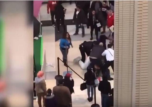 Easter Bunny Fights With Newport Centre Shoppers At Jersey City Mall