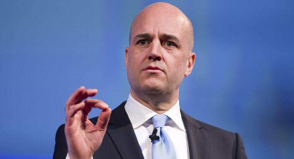Sweden's former prime minister Fredrik Reinfeldt