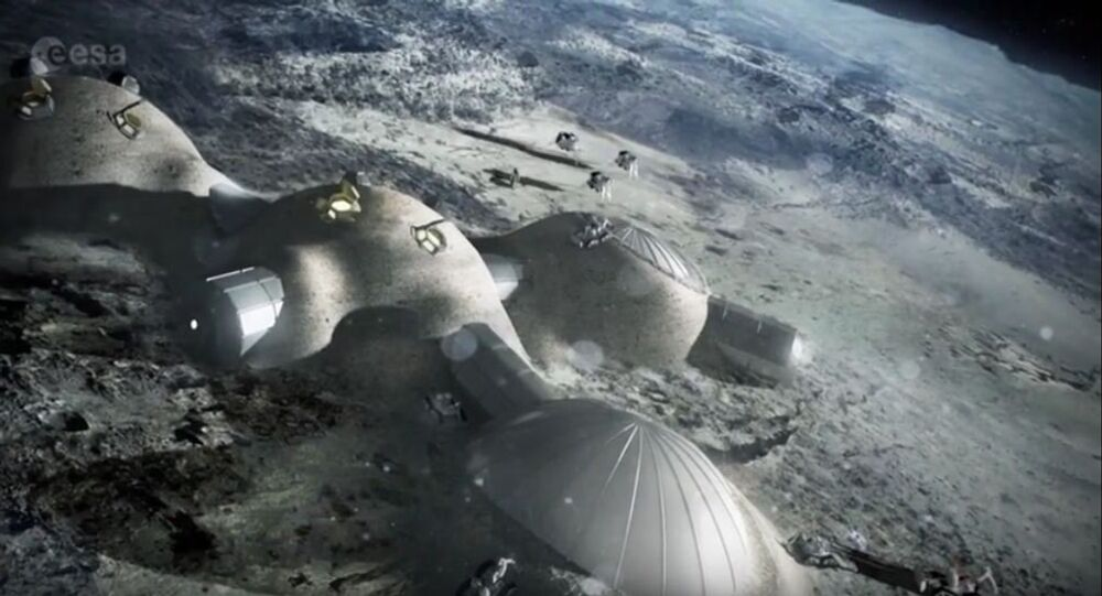Moon Village, computer render by European Space Agency