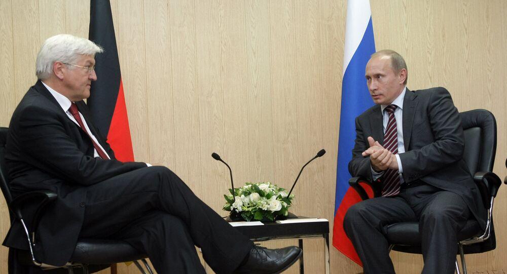 Vladimir Putin talks with Frank-Walter Steinmeier (File)