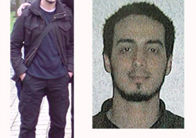 In this undated combination photo provided by the Belgian Federal Police in Brussels on Monday, March 21, 2016, suspect Najim Laachraoui is shown