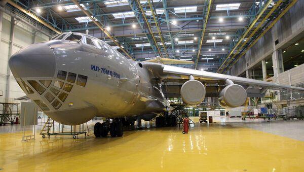 Transport aircraft Il-76MD-90A in a workshop of JSC Aviastar-SP in Ulyanovsk - Sputnik International
