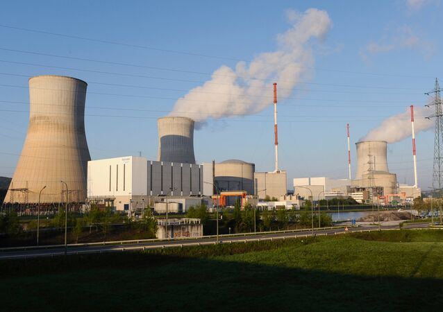 This file picture taken on April 25, 2009, shows the nuclear Belgian power plant of Tihange
