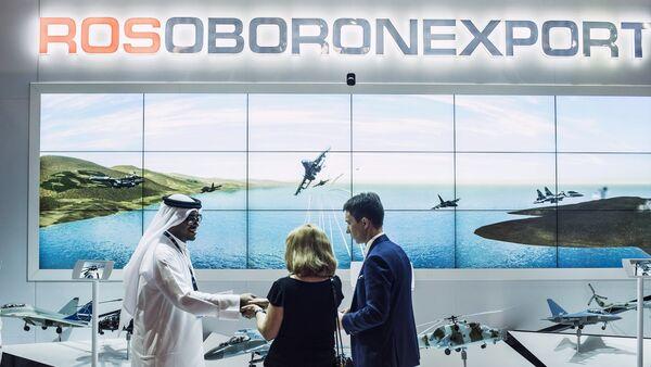 The Rosoboronexport stand at the 2015 Dubai Airshow international exhibition - Sputnik International