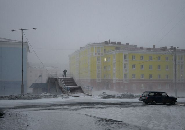 Snowstorm in Norilsk. File photo