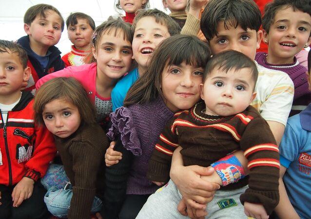 Children of Zaatari refugee camp in Jordan.