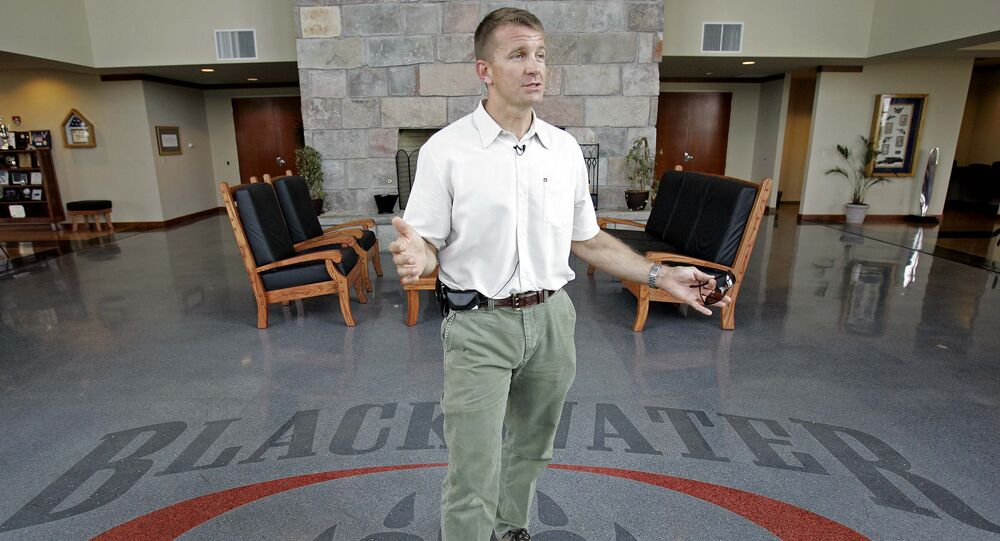 Erik Prince is seen at Blackwater's offices in Moyock. (File)