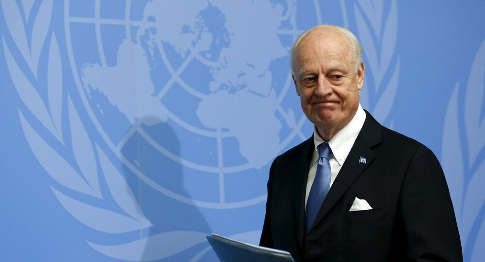 U.N. mediator for Syria, Staffan de Mistura gives a news conference at the end of the Syria peace talks at the United Nations in Geneva, Switzerland, March 24, 2016