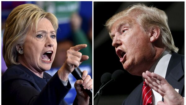 Democratic presidential candidate Hillary Clinton (L) and Republican presidential candidate Donald Trump are seen in a combination of file photos - Sputnik International